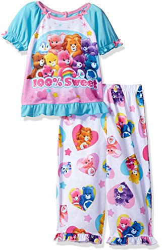 Care Bears Toddler Girls' 2pc Sleepwear Set, Blue, 3T