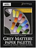 "Jack Richeson Grey Matters Paper Palette (50 Sheets), 9"" x 12"" Paper for Paint Mixing"