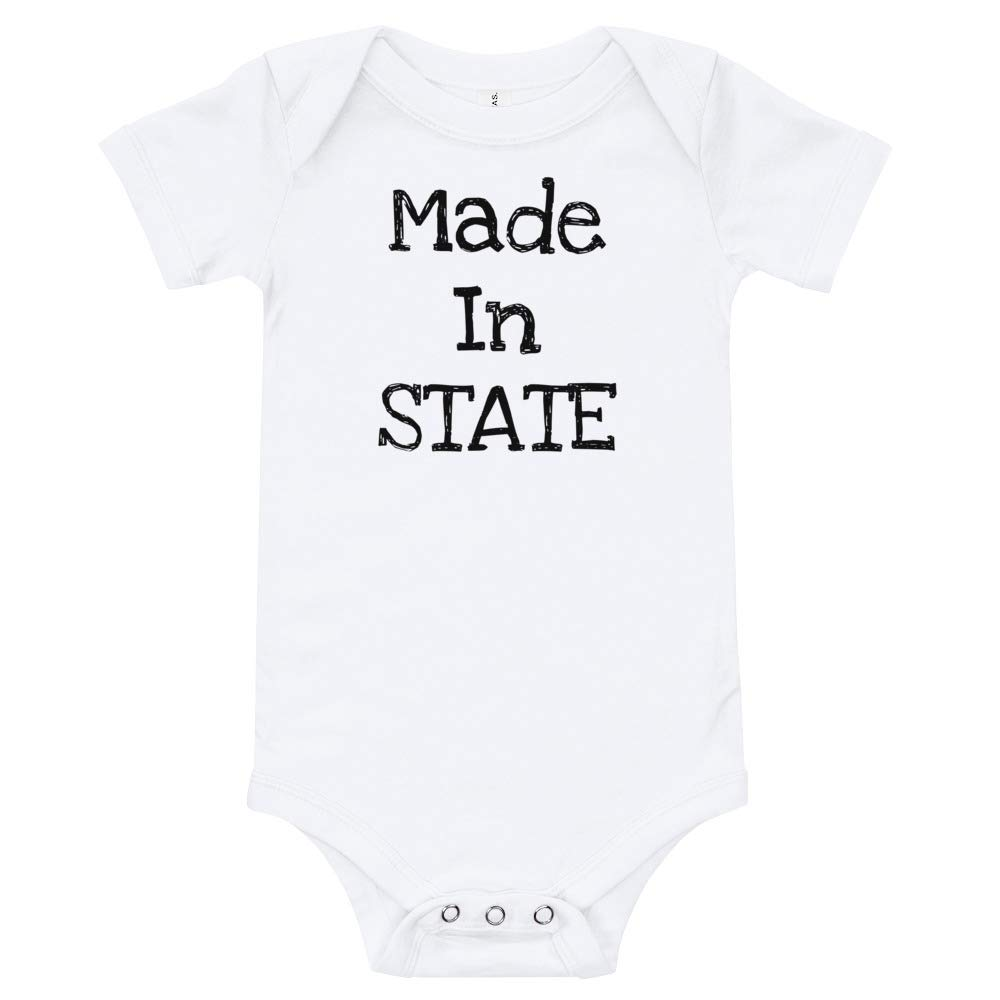Conceived in Made in Baby Announcement Custom T-Shirt