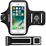 iPhone 6s/6 Armband, BUMOVE Gym Running/Workouts Arm Band for iPhone 6s/6 with Key/Card Holder (Black)