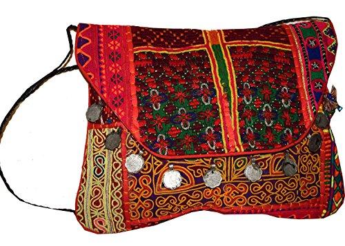 Tribal Asian Textiles , Damen Clutch merhfarbig