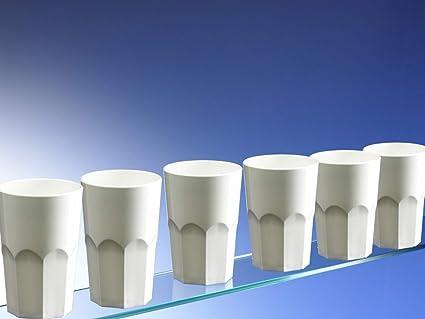 b0fd8fff2d30 Avenue s Dishwasher Safe Set of 6 Unbreakable Reusable Polycarbonate White Plastic  Octagon shaped 15 OZ Tumblers