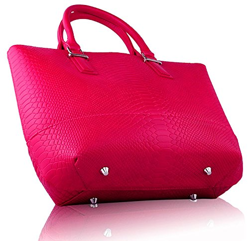 ANNA GRACE - Bolso al hombro de piel sintética para mujer Design 2 - Pink