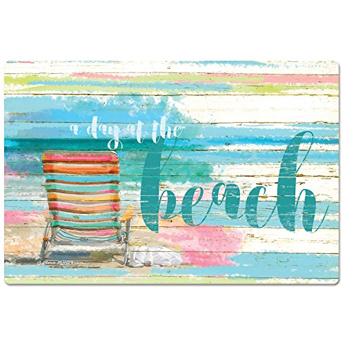 CounterArt Anti-Fatigue Comfort Floor Mat, 30 x 20 Inches, A Day at the Beach Comfort At The Beach