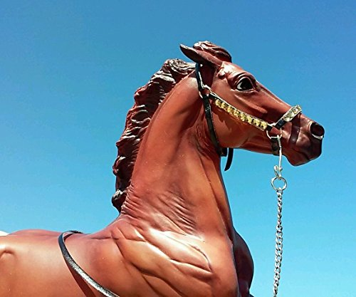 Breyer Peter Stone horse custom halter and lead gold South Dakota made
