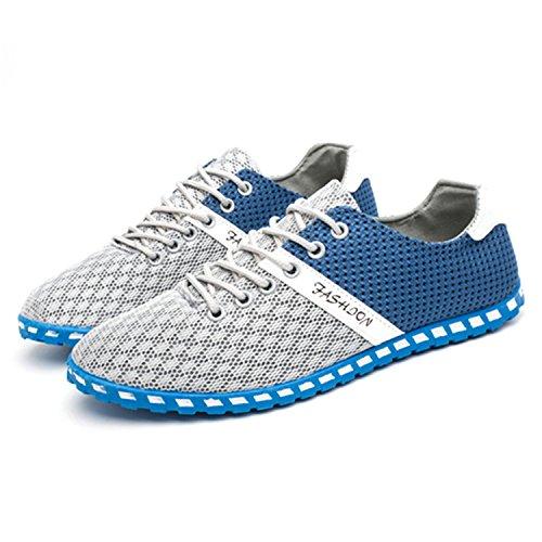 Botia Mocassins pour Hommes Été Léger Respirant Air Engrener Décontractées Chaussures Light Gris nTy8EPpgU0