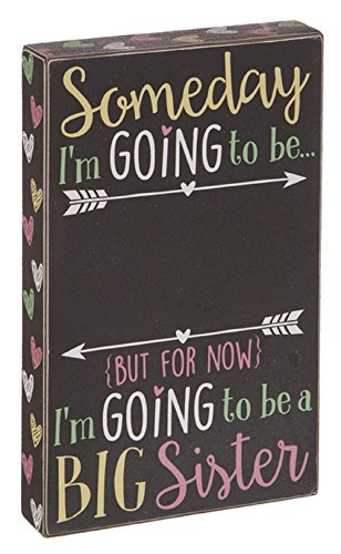 Ganz Big Sister Chalkboard Box Sign ()