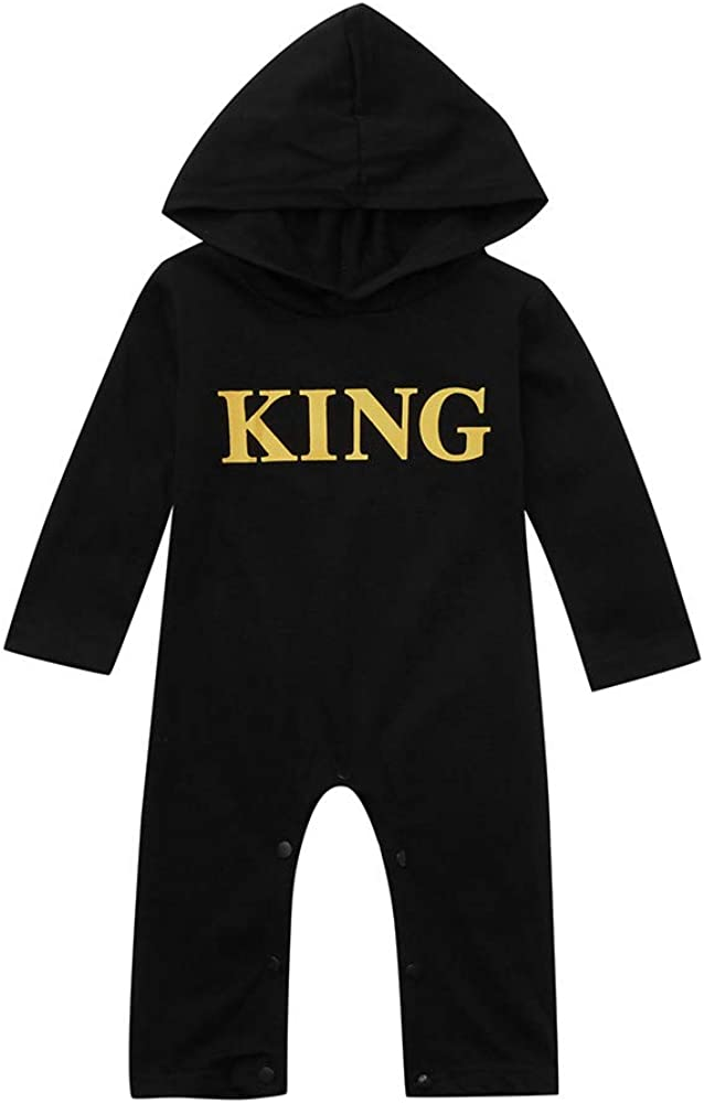 for 0-2 Years Old Toddler Kids Baby Letter Boys Girls Hoodie Outfits Clothes Romper Baby Jumpsuit