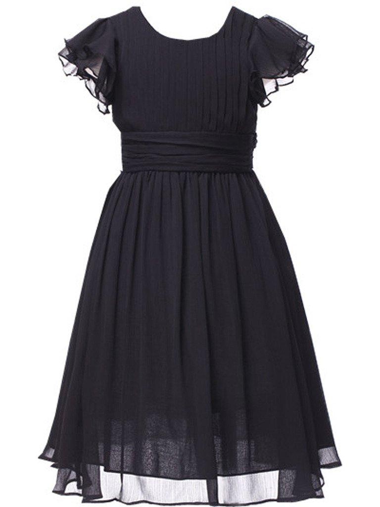 Happy Rose Flower Girl's Dress Prom Party Dresses Bridesmaid Dress Black 8