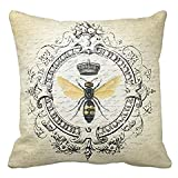 queen bee electronic - Modern vintage french queen bee throw pillow case 2424