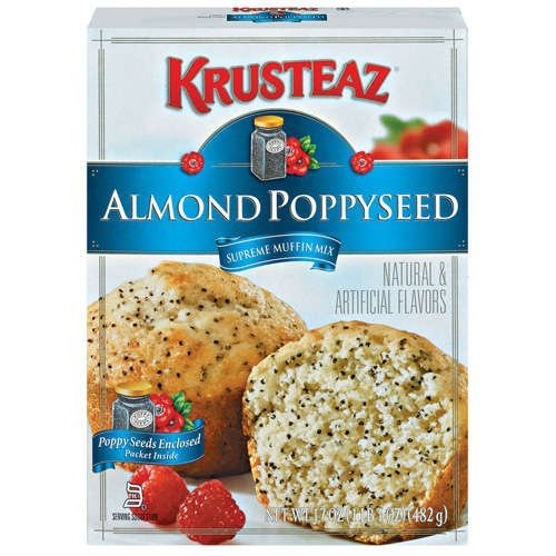 Krusteaz, Almond Poppyseed Supreme Muffin Mix, 17oz Box (Pack of 6)