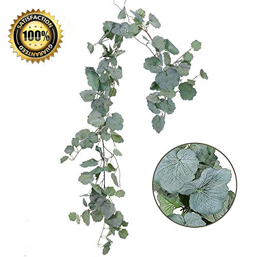 Begonia Leaves - LASPERAL 1 Pc Artificial Hanging Leaves Vines, 5.5 Ft Faux Begonia Leaves Twigs Silk Plant Leaves Garland String in Green for Indoor/Outdoor Wedding Decor Party Supplies