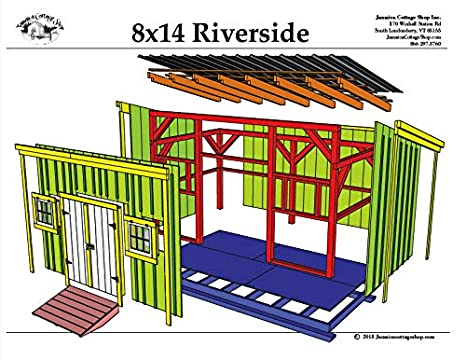 Timber Frame Post And Beam Shed Plans 8x14 Riverside