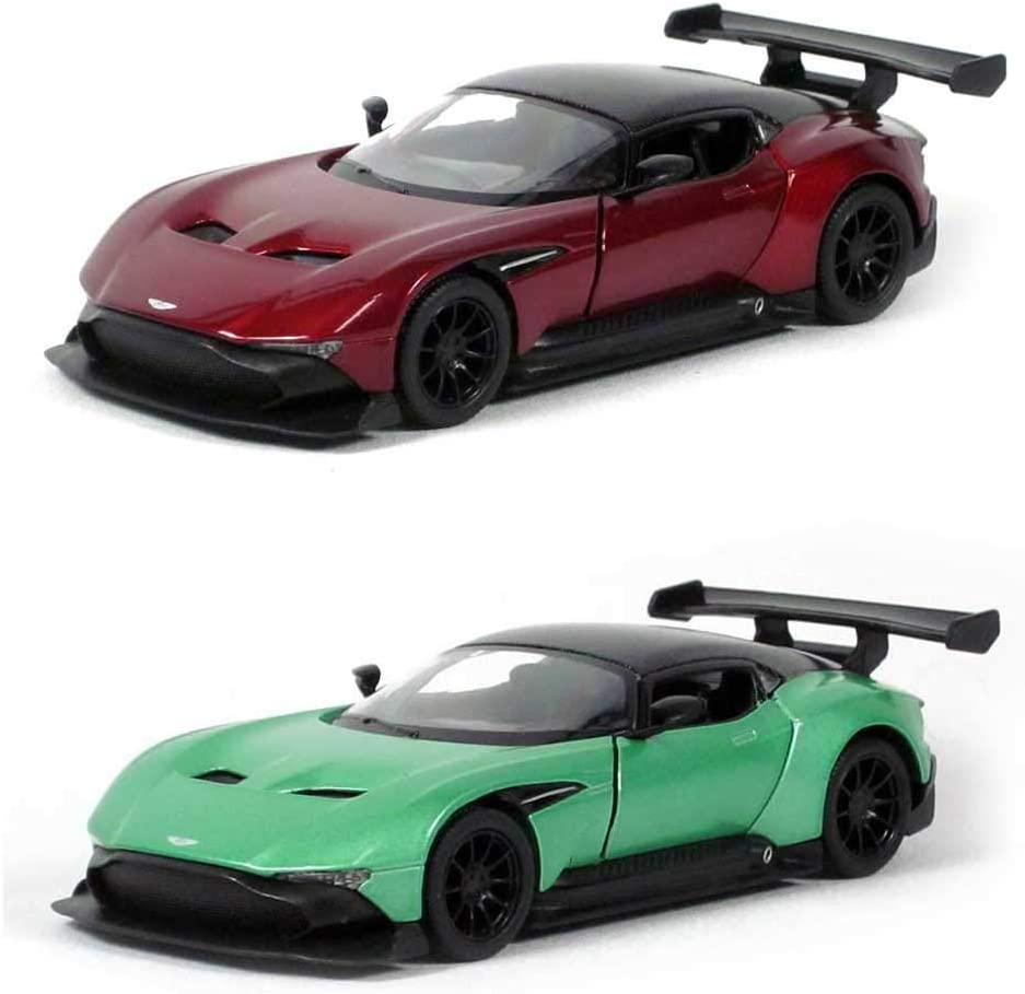 Dcx 5 Die Cast Set Of 2 Aston Martin Vulcan Red And Green 1 38 Scale Amazon Co Uk Toys Games
