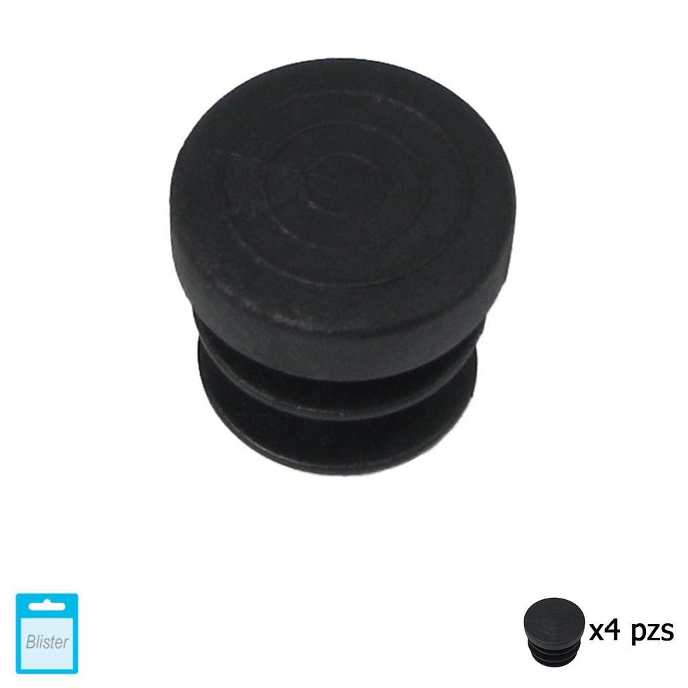 Set de 4 Piezas 26 mm Negro Maurer 5330655 Contera Redonda de Interior