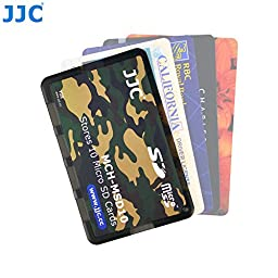 JW Portable Memory Card Case for 10 Micro SD Cards with Writable Label and Cleaning Cloth