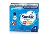 Similac advance step 1 omega-3 and omega-6 non-gmo infant formula ready to feed bottles, 16 Count