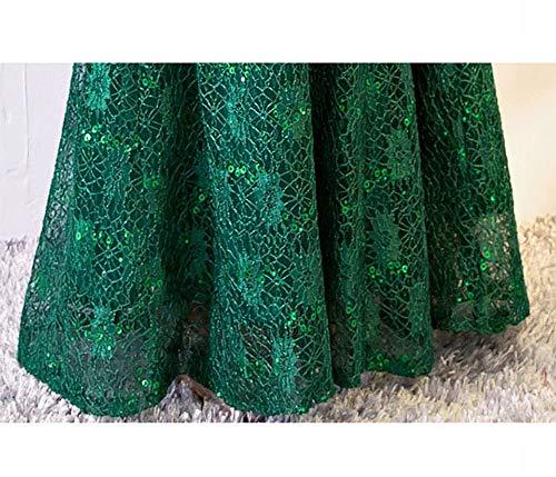 Di D'onore Damigella Lungo Da Xs Paillettes er Abito Ty A Verde Con Vestitino Sirena XwUqT1nx8