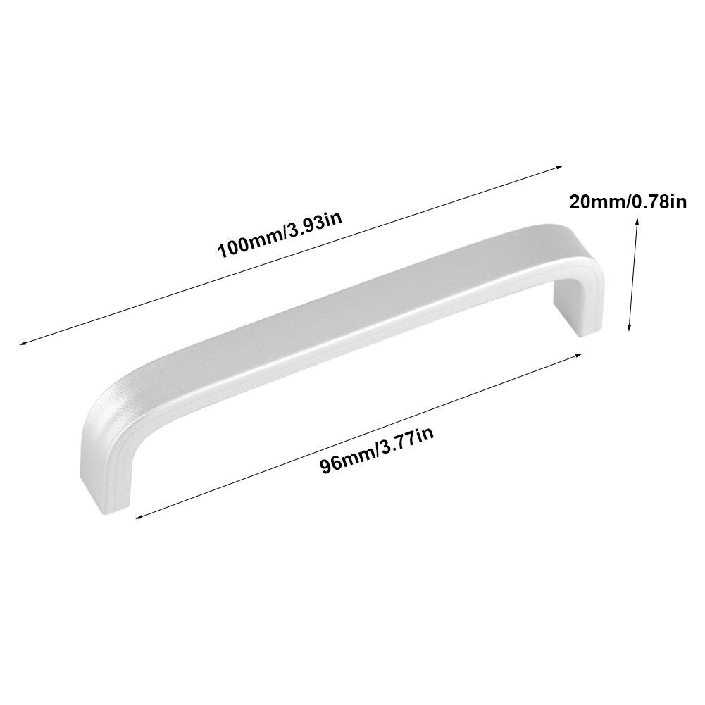 64mm Fdit Paquet de 4 Poign/ée en Alliage daluminium pour Meubles Maison Tiroir Armoire Placard Quincaillerie Commode avec Vis 4pcs