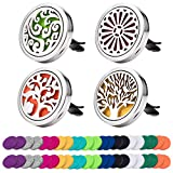 Best Car Diffusers - 4 Pack Car Essential Oil Diffuser Vent Clip Review