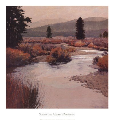 Headwaters by Steven Lee Adams - 20x21 Inches - Art Print Poster