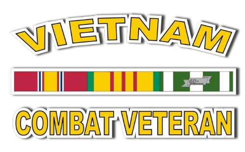 Vietnam Combat Veteran Window decal 5.5