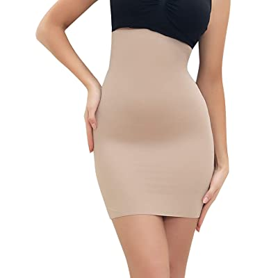 SLIMBELLE Half Slips Shaper Cool Comfort Seamless Firm Control Slip Shapewear Under Dress Tight Skirt Undergarments at Women's Clothing store