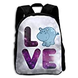The Children's Galaxy Love Animal Cute Hippo Backpack