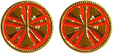 A 115 Firefighter Rank Insignia Lapel Pin Set of 2 Fire Chief 5 Bugles