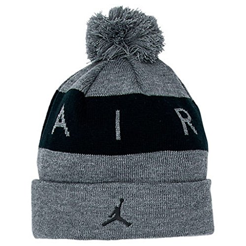NIKE Jordan Air Kids Boys Jacquard Pom Knit Beanie Hat