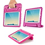 TNP iPad Case - Kids Shock Proof Soft Light Weight Childproof Impact Drop Resistant Protective Stand Cover Case with Handle for Apple iPad 2 & iPad 3 & iPad 4 (Hot Pink)
