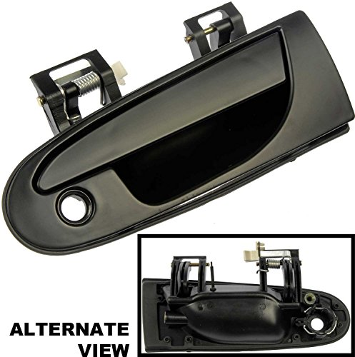 Chrysler Various Models (APDTY 88504 Exterior Door Handle Front Left Smooth Black (PTM) 1995-2000 Chrysler/Dodge/Mitsubishi Various Models (View Compatibility Chart To Verify Fitment) Replaces OEM # MB913151,MR712044,MR712050)
