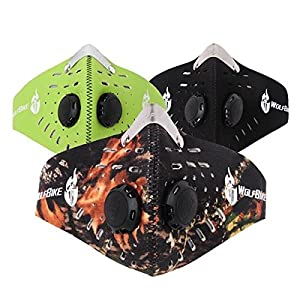 Cycling - Wolfbike 3 Colors Outdoor Riding Mask Windproof Dustproof Activated Carbon Mask - Activated Mask Anti-Pollution Pollen Bike Filtration Outdoor Cycling Face Bicycle Dust Allergy - 1PCs