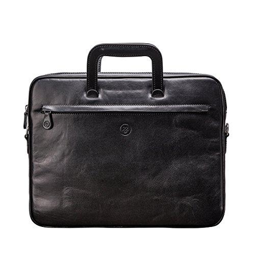 017e005bcaa Maxwell-Scott® Luxury Professional Slim Business Men s Black Leather  Document Folio Briefcase Bag (The Tutti) - Buy Online in UAE.