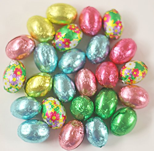 Scott's Cakes Foil Wrapped Solid Milk Chocolate Easter Eggs in a 1 Pound Clear Cello Bag