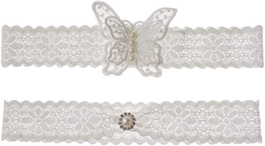 Wedding Garters Set Lace Bridal Garter with butterfly Elastic Leg belt for Women