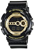 Casio Men's GD100GB-1 Black Resin Quartz Watch with Gold Dial [Watch] Casio