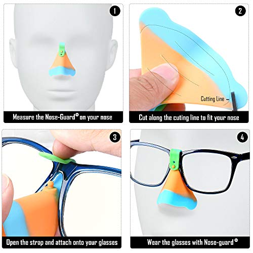 UV Nose Guards for Glasses - Nose Sun Protection - Sun Nose Guard - UV Nose Guard Shield UPF 50+ - Nose Sun Guard - Sun Nose Protector - Set of 3 Nose UV Guard