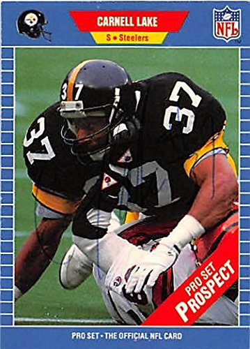 e66f77fd539 Carnell Lake autographed Football Card (Pittsburgh Steelers) 1989 Pro Set   548 - NFL