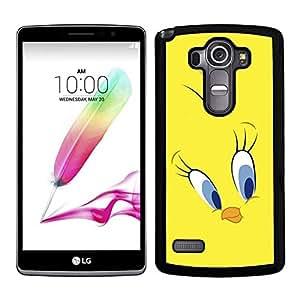 Funda carcasa para LG G4 Stylus diseño pollito fondo amarillo borde negro