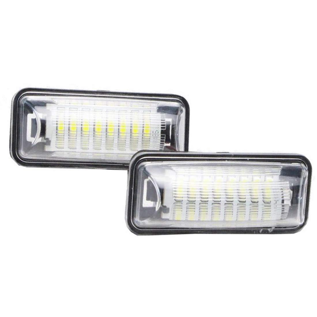 18 LED Canbus 12V Error Free White Lamp VIGORFLYRUN PARTS LTD 2pcs Car LED License Number Plate Light For 86 GT86 FT86 BRZ Scion FR-S