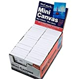 Mont Marte Mini Canvas 6x8cm, Stretched Small Canvas& Primed Plastic Frame 2pcs Shrinked- 36 Pack, Ideal For Miniature Paintings and Place Cards