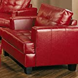 Coaster Samuel Leather Chair, Red