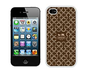 Coach 26 White Case Cover for iPhone 4 4S Grace and Cool Design