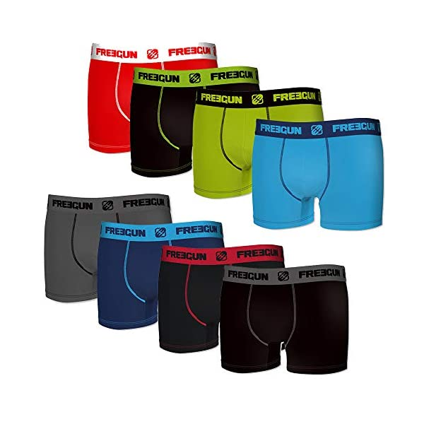 FREEGUN Lot de 8 Boxers Coton Enfant 1