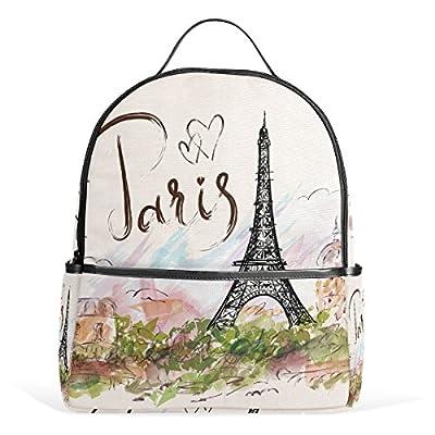 d1b2e6ac3b high-quality JSTEL Eiffel Tower School Backpack 4th 5th 6th Grade for Boys  Teen Girls