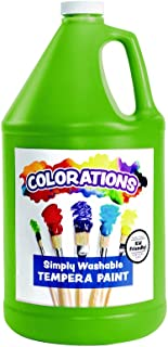 product image for Colorations Washable Tempera Paint, Gallon, Apple Green, Non Toxic, Vibrant, Bold, Kids Paint, Craft, Hobby, Fun, Art Supplies (Item # GWSTAP)
