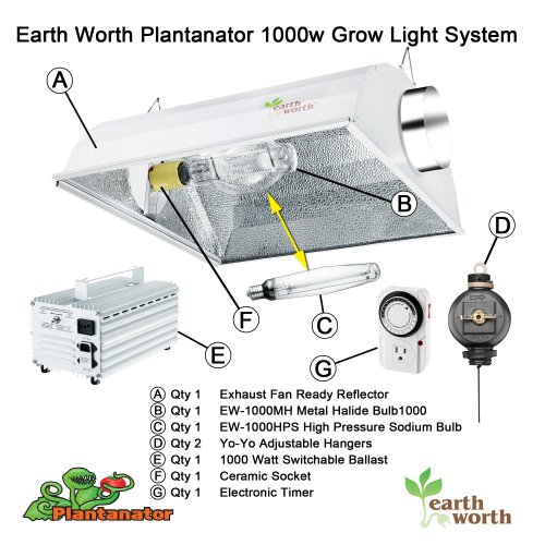 Cheap 1000 Watt Plantanator Grow Light Kit Dual Bulb System