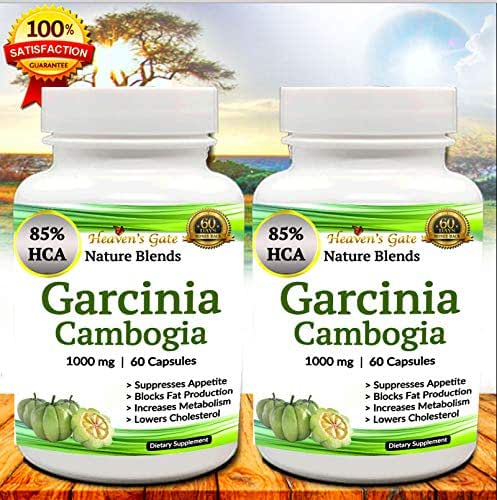 GARCINIA CAMBOGIA EXTRACT WITH 85% HCA IS A VERY EFFECTIVE SUPPLEMENT FOR QUICK WEIGHT LOSS - GLUTEN FREE - 100% NATURAL - 100% PURE AND SAFE TO USE WITH NO SIDE EFFECTS - 1000 mg CAPSULES - 120 PILLS