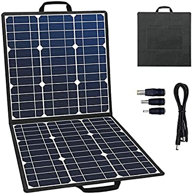 Amazon.com: GOFORT - Cargador solar portátil plegable, panel ...